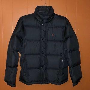 Polo Ralph Lauren Black Down Fill Puffer Coat
